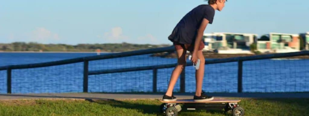 Electric Skateboard Uphill